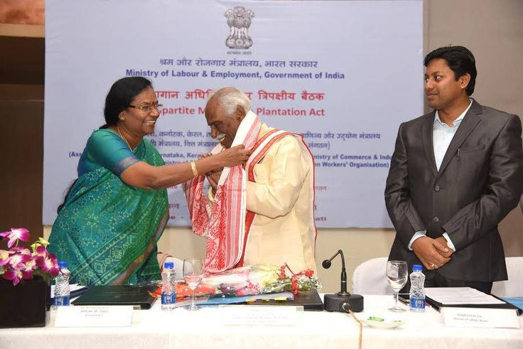 Shri Bandaru Dattatreya ji, Minister of State (Independent Charge) for Ministry of Labour and Employment, Govt. of India attended Tripartite Meeting on plantation Act along with Shri Pallab Lochan Das, Labour Minister of Assam and Smt. M. Sathiyavathy, Secretary, Ministry of Labour and Employment, Govt of India.