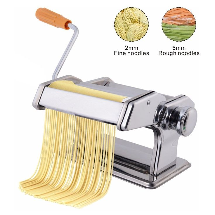 Pasta Maker Roller Machine Fresh Noodle Spaghetti&Fettuccine Stainless Steel - Kitchen & Dining - Home & Garden