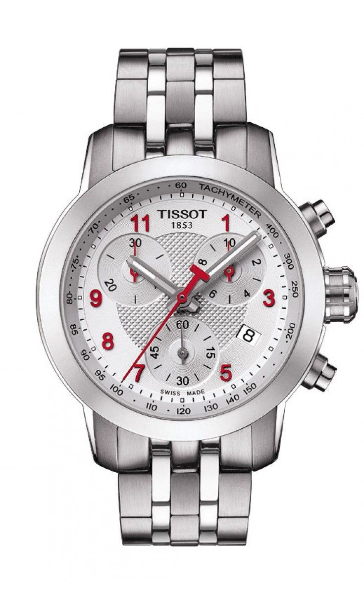 Tissot PRC 200 Asian Games Special Edition 2014 Lady Quartz Chrono Silver Dial Watch with Stainless Steel Bracelet The Tissot PRC 200 Chrono Quartz Asian Games Special Edition 2014 comes with a silk printed glass caseback and red details underlining its sporty and unique nature.