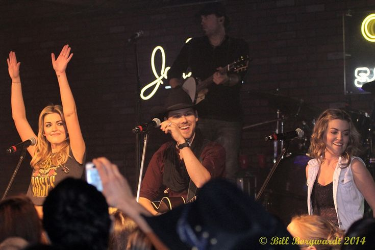 One More Girl and Brett Kissel performing at Cook County Saloon in Edmonton, Alberta, on the Young Guns Tour on February 12, 2014 (Bill Borgwardt Photography)