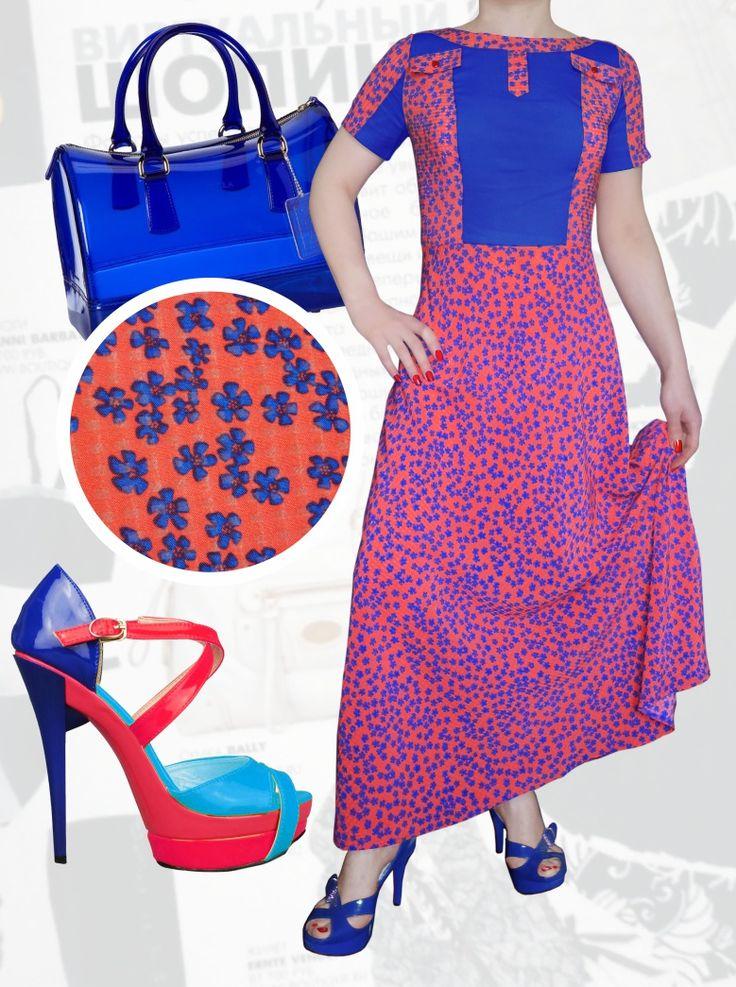 47$ Летнее стильное платье в мелкий цветочек с синими вставками для полных девушек офисный вариант Артикул 732, р50-64 Платья больших размеров  Платья в мелкий цветочек больших размеров  Платья в пол больших размеров  Летние платья больших размеров Платья макси больших размеров  Платья в мелкий цветочек больших размеров Шифоновые платья больших размеров Длинные платья больших размеров  Дизайнерские платья больших размеров Красивые платья больших размеров  Модные платья больших размеров