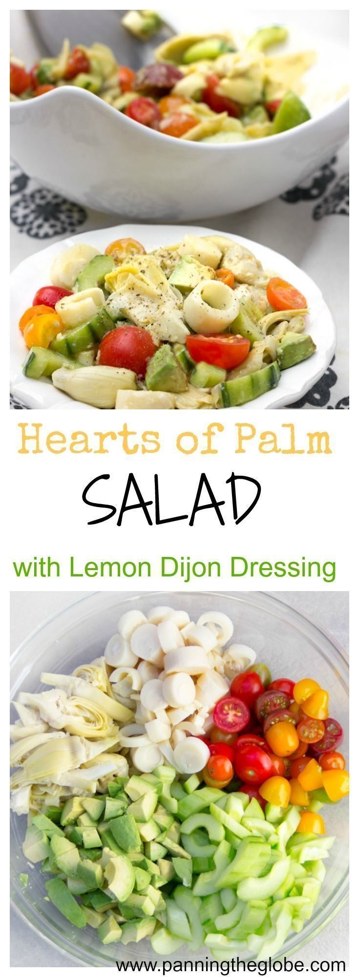 This Brazilian-style hearts of palm salad has rich flavors and an exotic quality about it, yet it��s a healthy and easy recipe to throw together. Just some slicing and dicing and a wonderful lemony, mustardy, garlicky dressing that brings it all together.