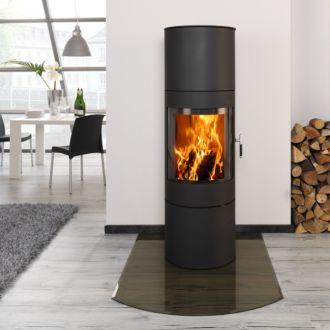kaminofen novaline monte ams korpus optional in schwarz. Black Bedroom Furniture Sets. Home Design Ideas