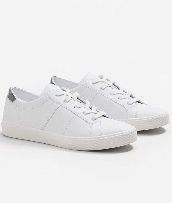 23559b4e6 Белые кожаные кеды с серебряной отделкой Love&Live ShoppingMall 1600 грн