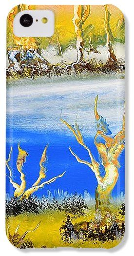 Raw River IPhone 5c Case Printed with Fine Art spray painting image Raw River by Nandor Molnar (When you visit the Shop, change the orientation, background color and image size as you wish)