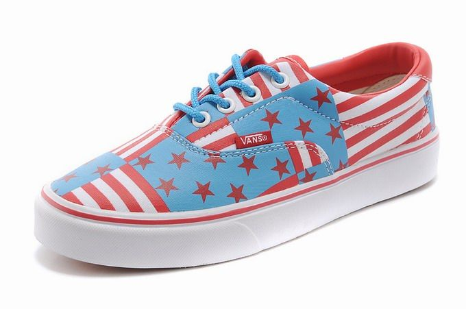 208d2c066aa4d1 Vans Era Red Blue Mens Shoes  Vans