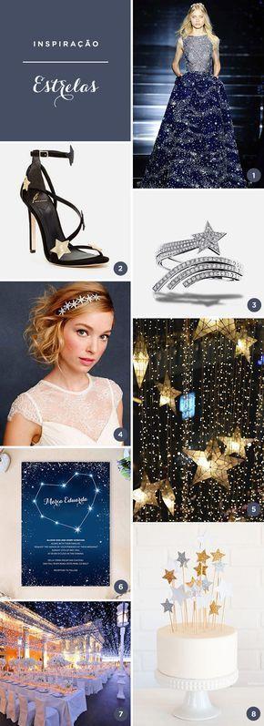 De vestido a decoração, inspire-se com 8 ideias para festa de 15 anos com o tema estrelas.