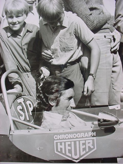 A big #Heuer sticker on Jo Siffert's racing car