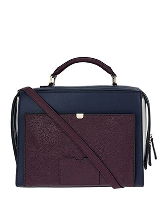 Our Harry colour-block handheld bag will ensure you carry your daily must-haves in style. This large boxy design features a front slip compartment as well as...