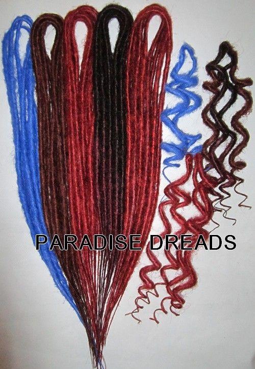 Pose et entretien facile 150 couleurs naturelles et colorées NEON UV 18 types de Dreads,léopard,bouclée,root,popcorn