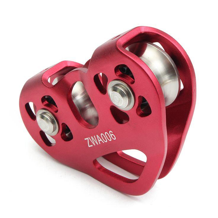 IPRee Outdoor 30KN Arrampicata su roccia a doppia puleggia Heart-Shaped Roller Alpinismo Fune Cavo dispositivo di supporto