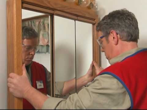 Install a Medicine Cabinet and new light fixture. Video includes materials needed.