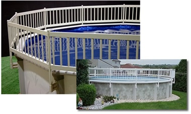 14 best images about pool ideas on pinterest above for Above ground pool decks canada