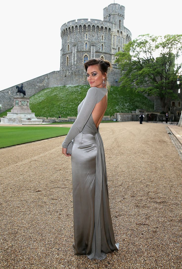 Margot Robbie in Ralph Lauren Collection at the Royal Marsden Dinner at Windsor Castle.