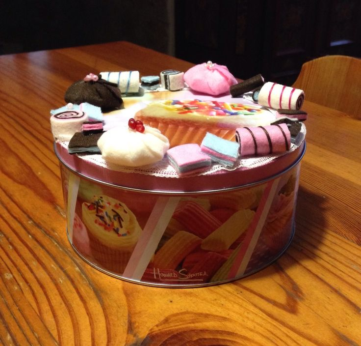 Sweetbox with handmade decorations