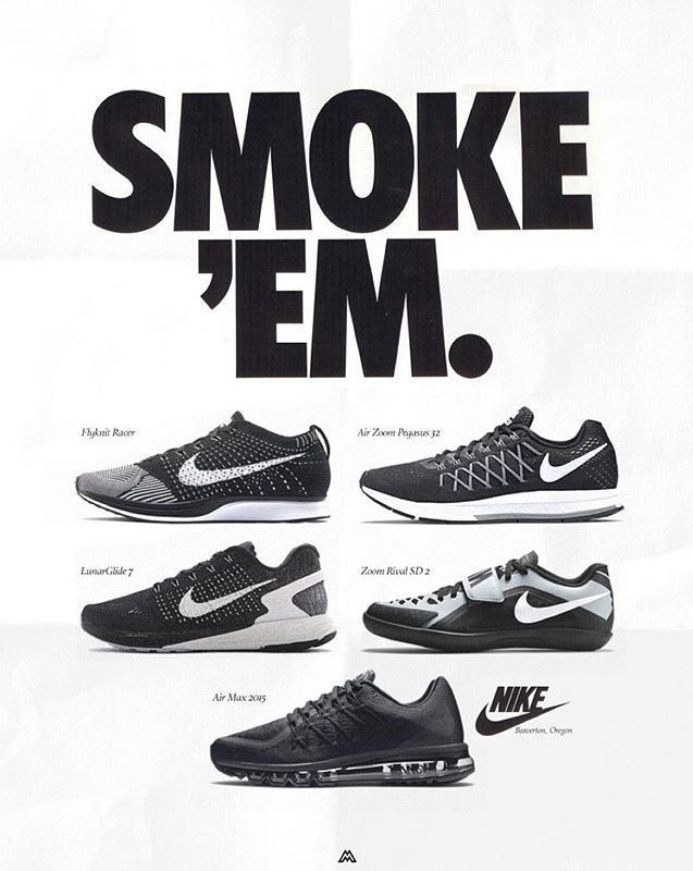 Modern Nike Shoes Reimagined in Vintage Ads: See the Flyknit Trainer in a  classic phone number ad.