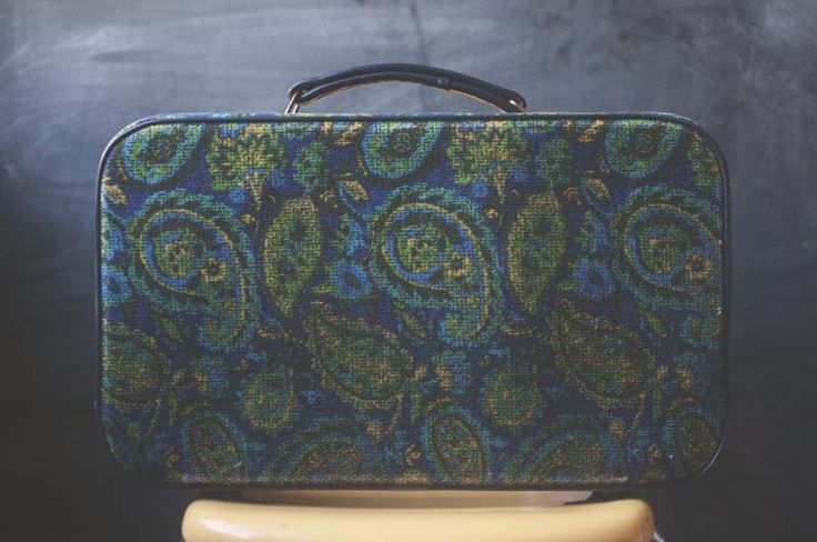 Vintage Paisley Soft Sided Kids Suitcase, 1970s Paisley Carry On Bag, Vintage Carry On Bag, Vintage Kids Suitcase, Vintage Overnight Bag, by NovelVintageKids on Etsy https://www.etsy.com/listing/256621440/vintage-paisley-soft-sided-kids-suitcase