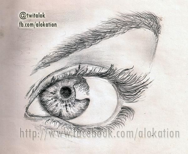 Sparkling Eye - Sketching by Alok Kumar in My Sketches at touchtalent 44084