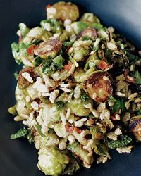 For his Brussels sprouts recipe, Momofuku's David Chang adds a sweet-salty vinaigrette, mint and chile. The charred, Asian-inspired sprouts are irresistible.