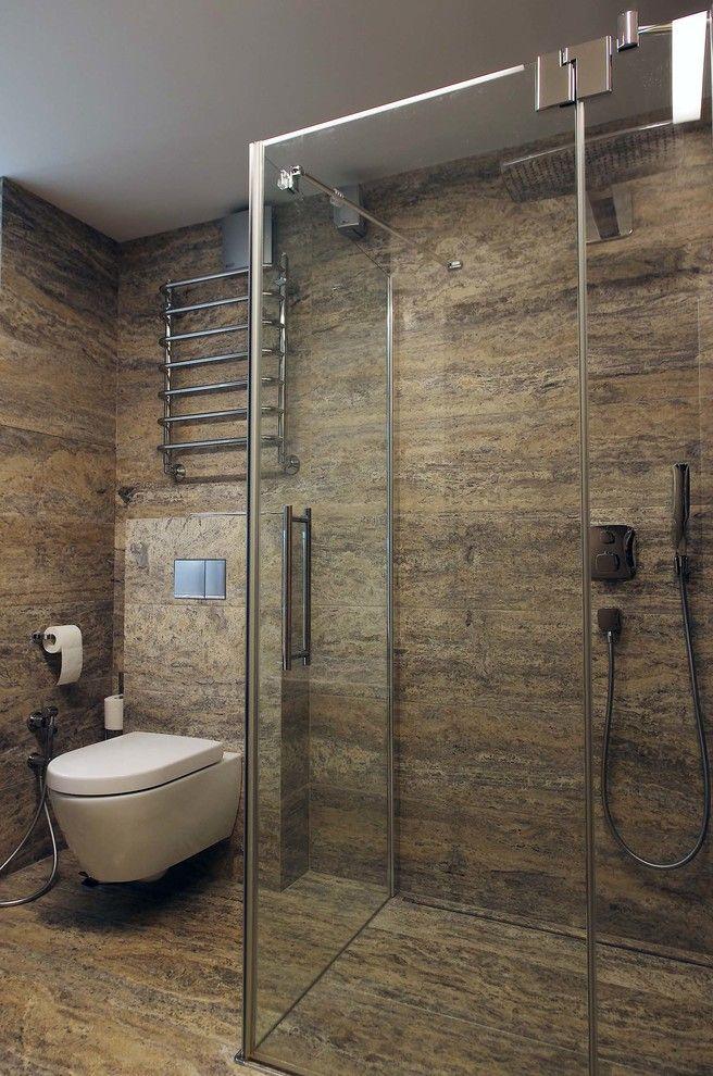 Дизайн совмещенного санузла. #дизайн_ванной #совмещенный_санузел #душевая_кабина