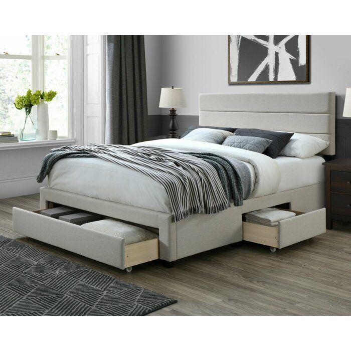 Desoto Upholstered Storage Standard Bed In 2020 Furniture