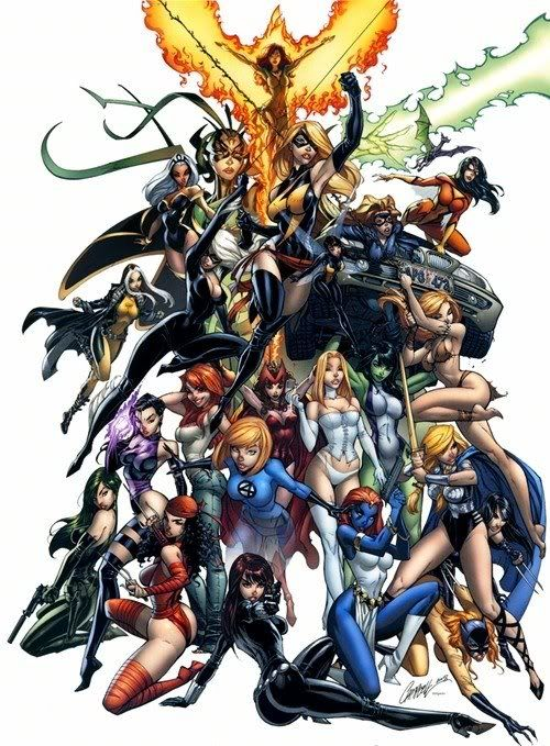 Women of Marvel//J. Scott Campbell/C/ Comic Art Community GALLERY OF COMIC ART