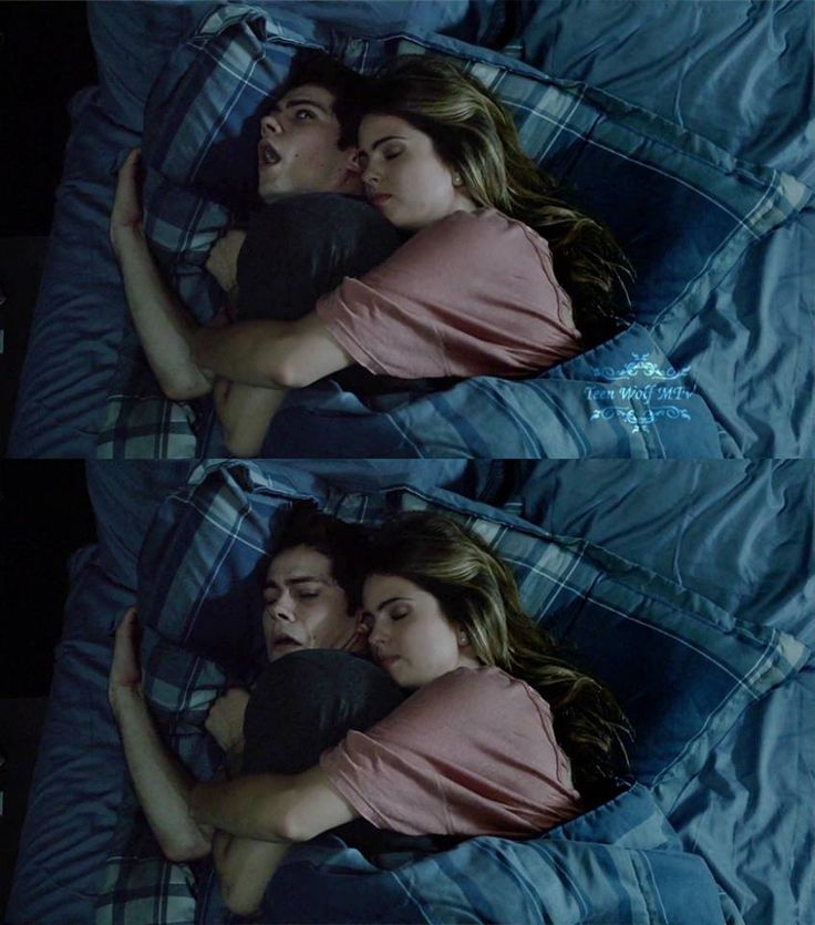 """Teen Wolf Season 04 Episode 08 """"Time of Death"""" Malia and Stiles. """"I'm always the little spoon"""""""