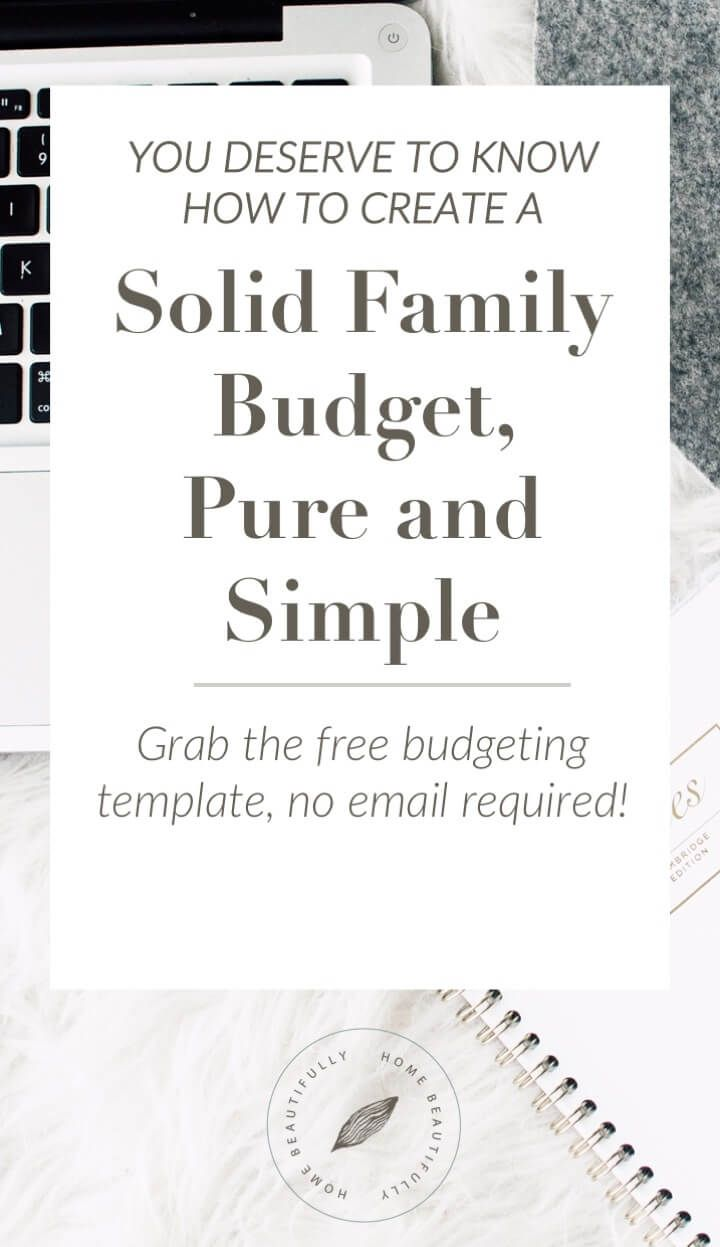 Stressing about finances? Create a rock solid home budget, pure and simple, with this free and easy home budget template.