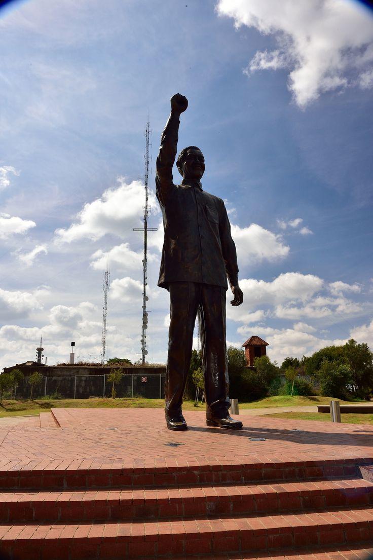   Nelson Mandela Statue, Bloemfontein, Free State, South Africa