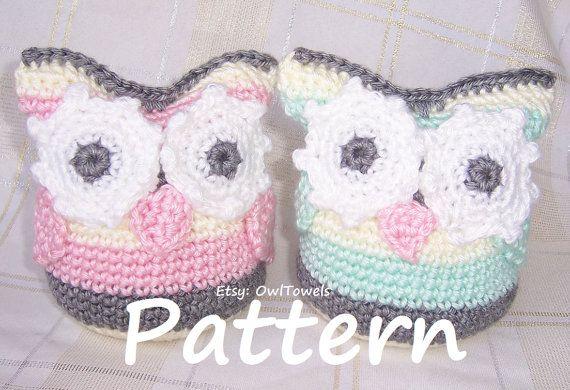 Owl Crochet Pattern  Super Easy Owl Stuffie Crochet by OwlTowels, $4.00