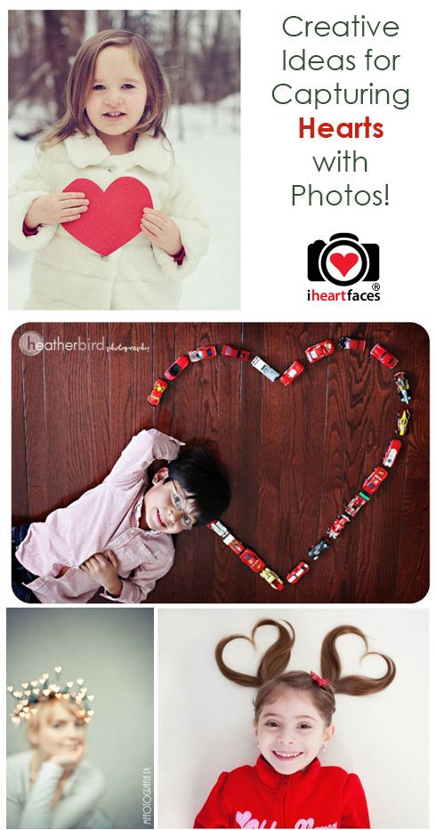 Amazing Ideas!!!!  Heart Themed Photo Ideas for Valentine's Day #photography #iheartfaces