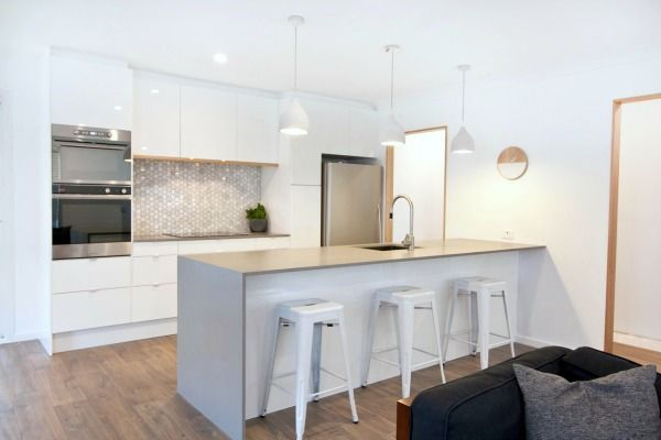 Scandinavian style Ikea Kitchen in Australia. From Housetweaking.com