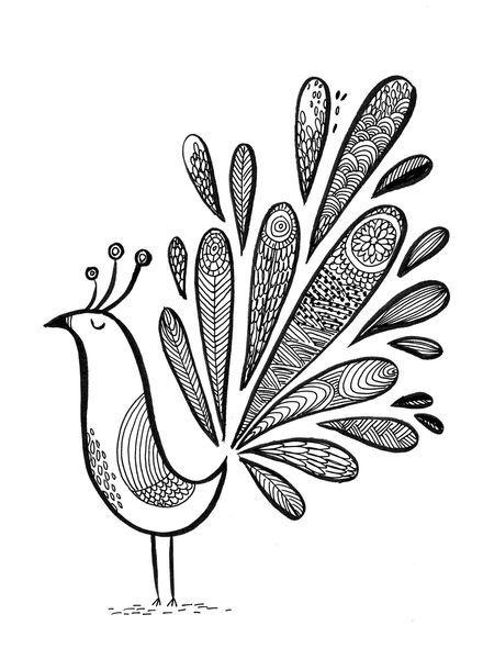 paon1, illustration de Cécile Hudrisier