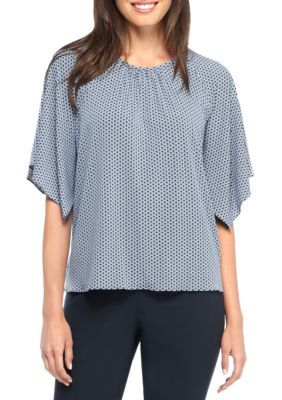 The Limited Women's Printed Dolman Top - Geo Pull Out - Xs