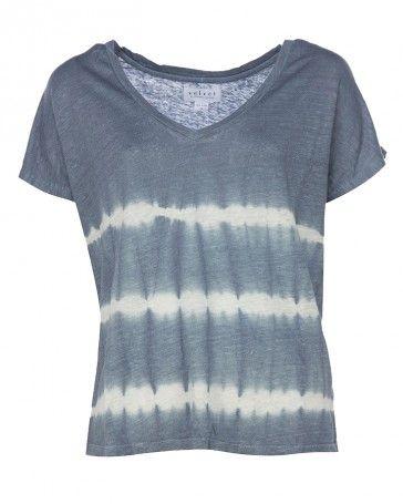 Velvet BENNIE T-Shirt  mit Batik Muster in Blau