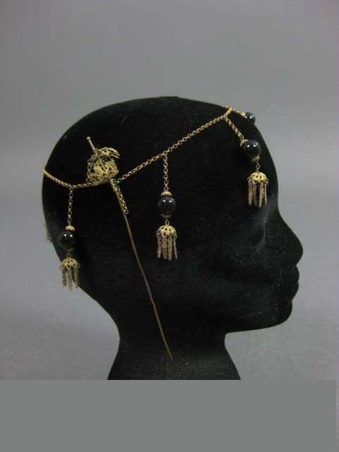 RARE 1910s FRENCH Flapper Rolled Gold Draped by Poshporscha, $279.00