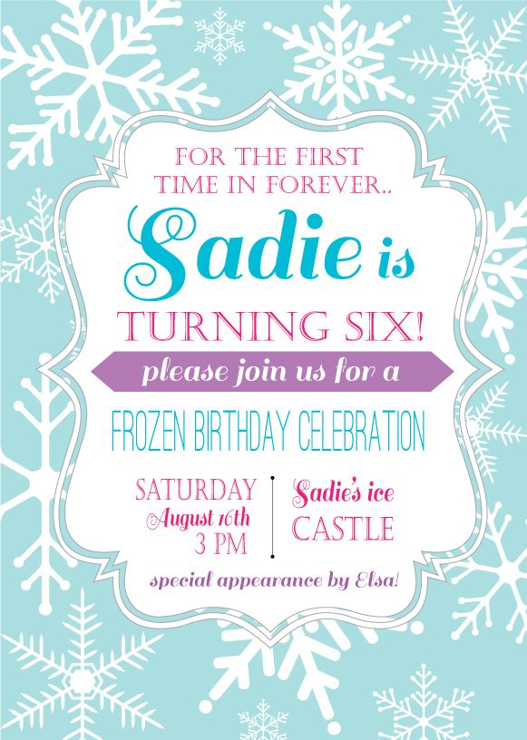 Unique Frozen Invitations Ideas On Pinterest Elsa Birthday - Birthday invitation frozen theme
