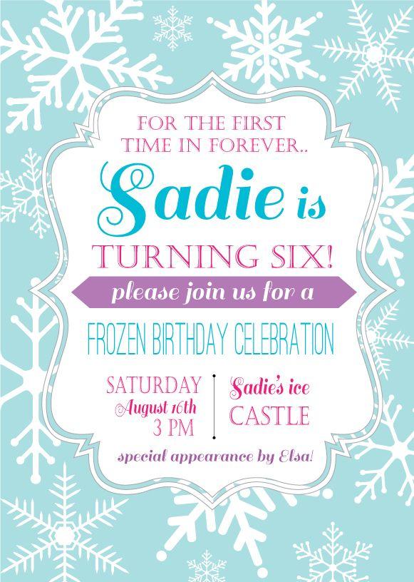 Tarjeta de Invitación - Frozen.                                                                                                                                                                                 Más