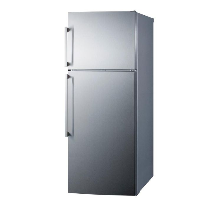 Summit Appliance 27 in. 12.6 cu. ft. Top Freezer Refrigerator in Stainless Steel, Counter Depth-FF1511SS - The Home Depot