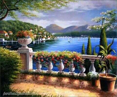 Mediterrane Gemälde 157 besten festmények bilder auf kunstmalerei gemäl