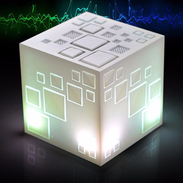 White Rubik Cube Smart Bluetooth Speakers Subwoofer Hands-free Mobile Phone Computer Compatible FM TF Card Mini MP3 MP4 Speaker