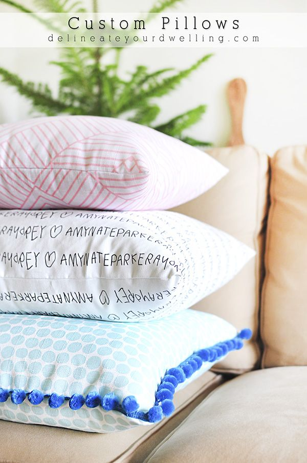 DIY Custom Gorgeous Throw Pillows - Delineate Your Dwelling