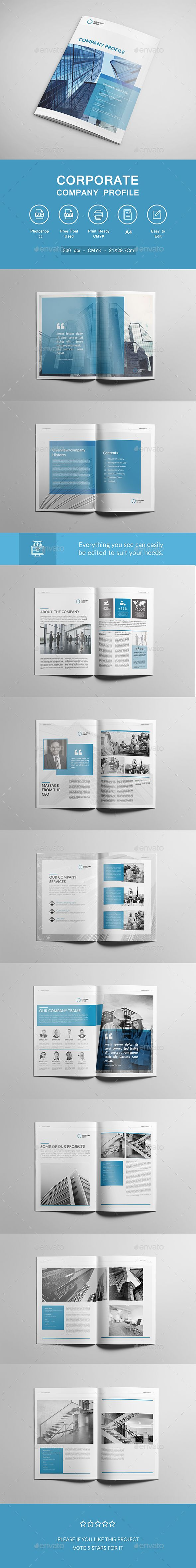 Corporate Company Profile Brochure Template PSD. Download here: https://graphicriver.net/item/corporate-company-profile-brochure/17451347?ref=ksioks