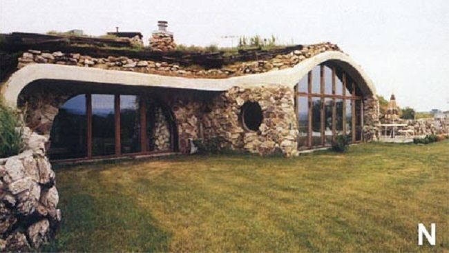 Earth Sheltered home. Love this design.