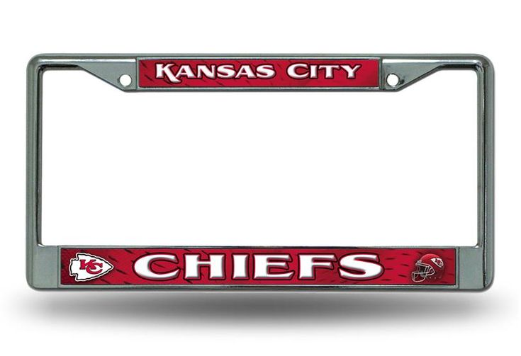 Kansas City Chiefs Chrome License Plate Frame By Rico