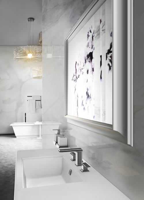 Fascino Gessi #bathroom || Fascino, which translates to charming, is a simple and clean-lined form that is at once contemporary and traditional. It's sophisticated and a little bit retro, but not at all fussy. It exudes that certain harmony of balance that's won Gessi scores of fans—and awards.