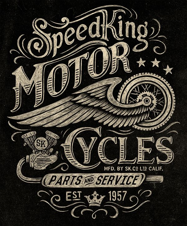 Motorcycle inspired vintage graphics on Behance                                                                                                                                                                                 More