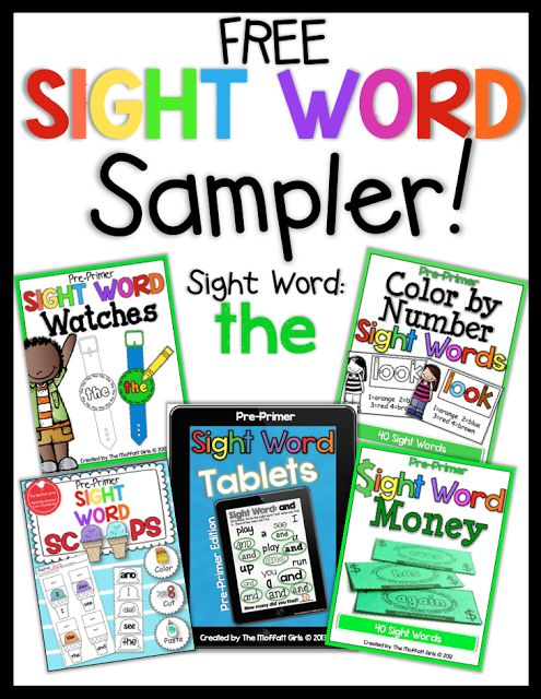 Sight Word Sampler - Pinned by @PediaStaff – Please Visit ht.ly/63sNtfor all our pediatric therapy pins