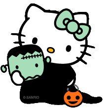 Halloween Hello Kitty & Frankenstein #HelloKitty #HelloKittyHalloween