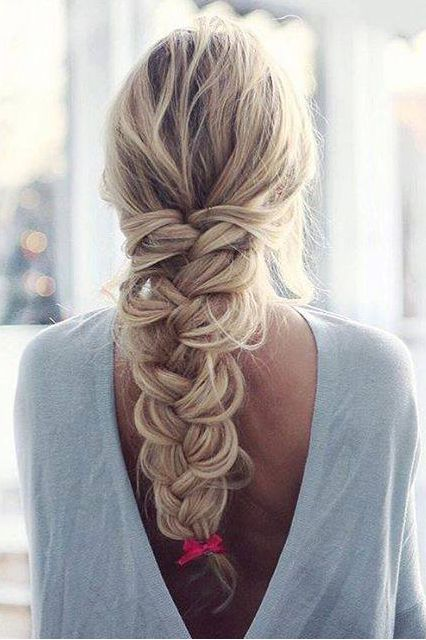 Beautiful Simply Braid on the lovely @inspobyelvirall using Ash Blonde Luxy Hair Extensions <3 #LuxyHairExtensions